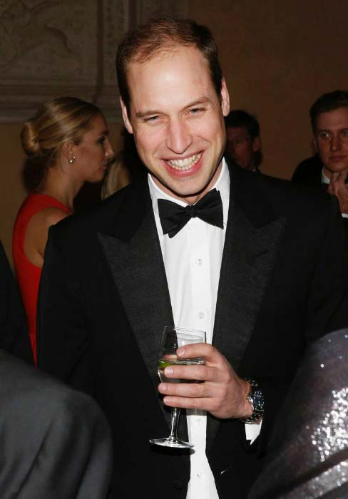 Prince William at gala dinner at Houghton Hall in June 2016