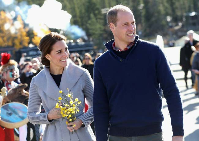 Prince William with wife Kate Middleton at Carcross during the Royal Tour of Canada in September 2016