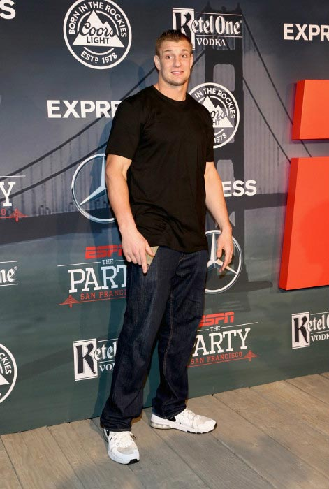 Rob Gronkowski at ESPN The Party in San Francisco on February 5, 2016