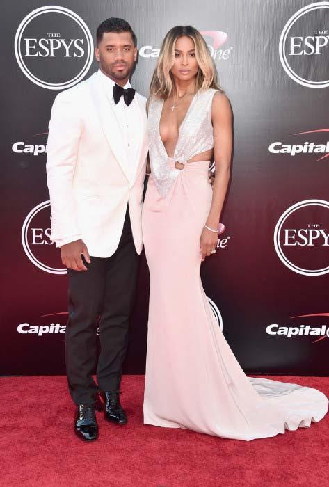 Russell Wilson and Ciara at 2016 ESPY Awards