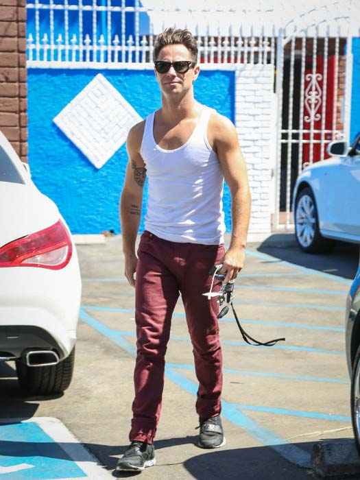 Sasha Farber arrives at ABC studios for the rehearsal of Dancing with the Stars in September 2015