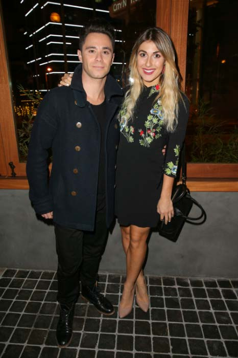 Sasha Farber and Emma Slater at Roku grand opening in West Hollywood in November 2015