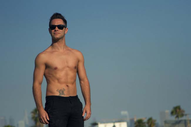 Sasha Farber shirtless shows off ripped torso in a photoshoot done in 2014