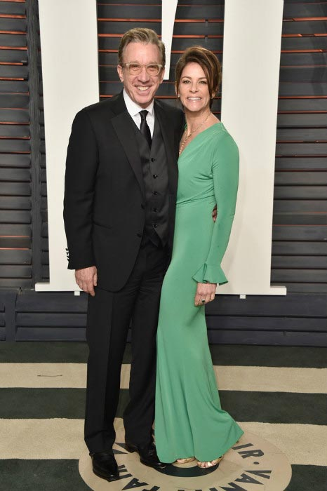 Tim Allen and wife Jane Hajduk at the 2016 Vanity Fair Oscar Party