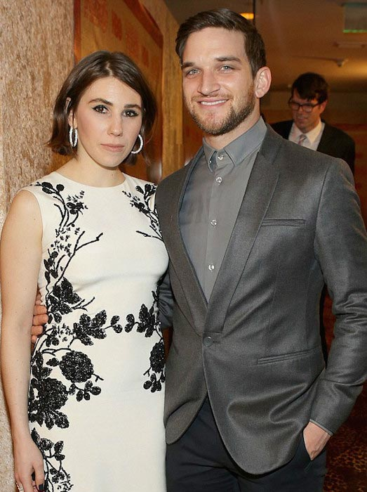 Zosia Mamet with husband Evan Jonigkeit at HBO's Golden Globes party