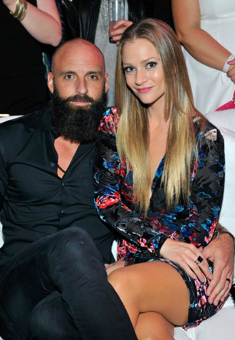 A. J. Cook and Nathan Andersen at the 10th anniversary Pink Party in Santa Monica in October 2014