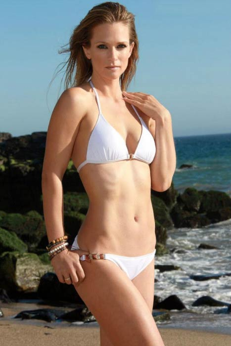 A. J. Cook in bikini in a Maxim magazine photoshoot in 2014