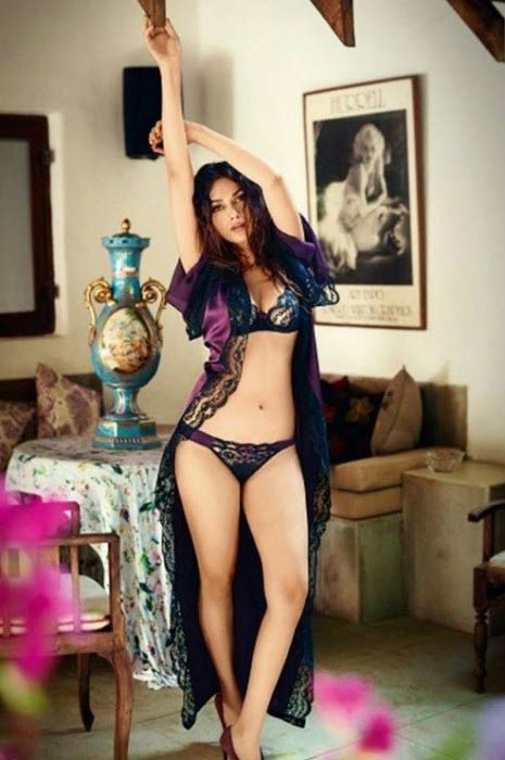 Aditi Rao Hydari poses in lingerie for GQ magazine in 2015
