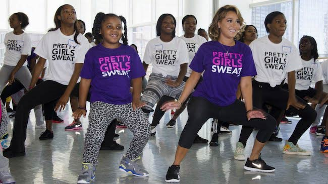 Adrienne Bailon hosts Pretty Girls Sweat Zumba Party