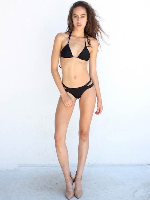 Alanna Arrington hot in black bikini