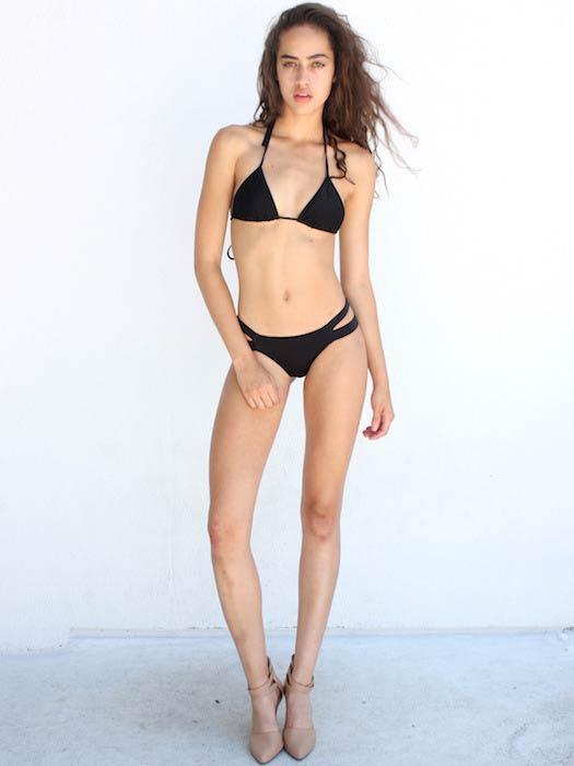 Alanna Arrington hot in black bikini