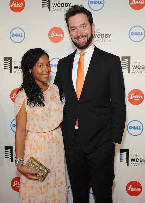 Alexis Ohanian and Sabriya Stukes at Webby Awards 2014