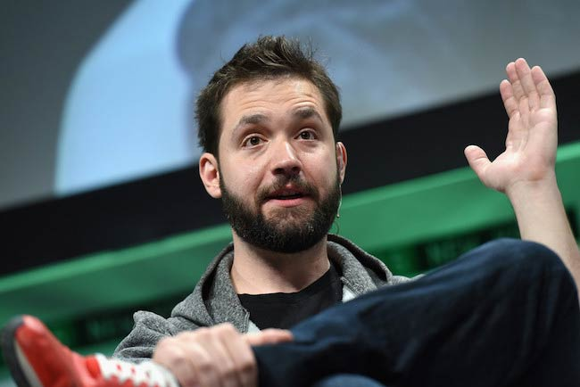 Alexis Ohanian during TechCrunch Disrupt NY 2015 on Day 3
