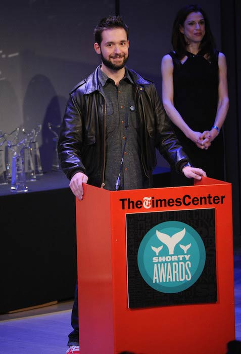 Alexis Ohanian speaking at Shorty Awards 2014