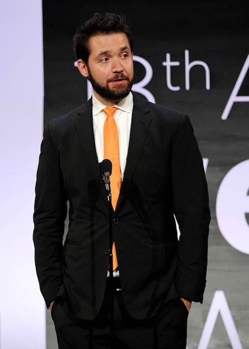 Alexis Ohanian speaking onstage at Webby Awards 2014
