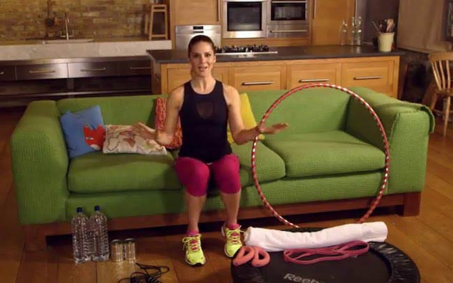 Amanda Byram telling about workouts at home