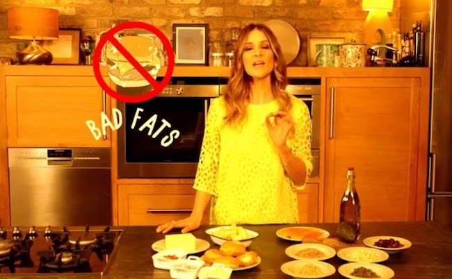 Amanda Byram telling food myths