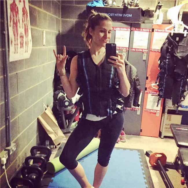 Amanda Byram's Electric Workout