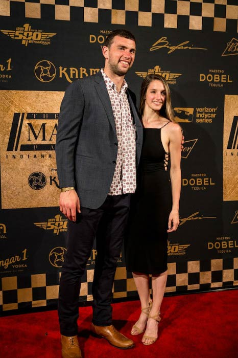 Andrew Luck and Nicole Pechanec at the Maxim Party in 2016