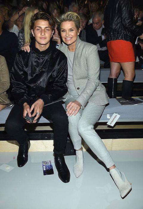 Anwar Hadid and Yolanda Foster at 2015 Victoria's Secret Fashion Show