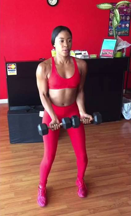 Ariane Andrew working out