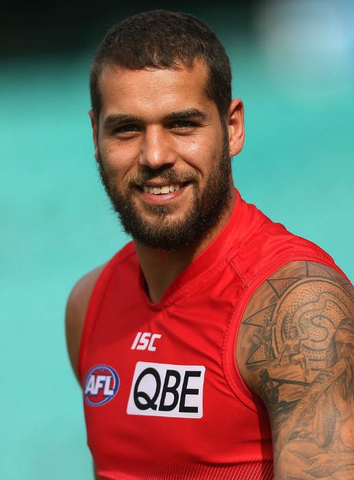 Buddy Franklin at Sydney Swans AFL training session in July 2016