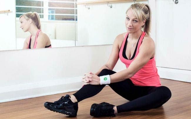 Chloe Madeley in the fitness studio