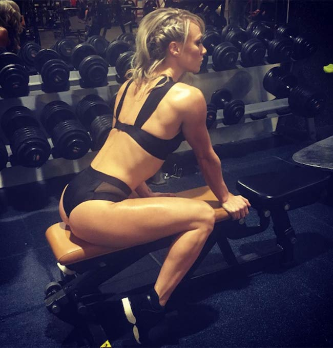 Chloe Madeley in the gym