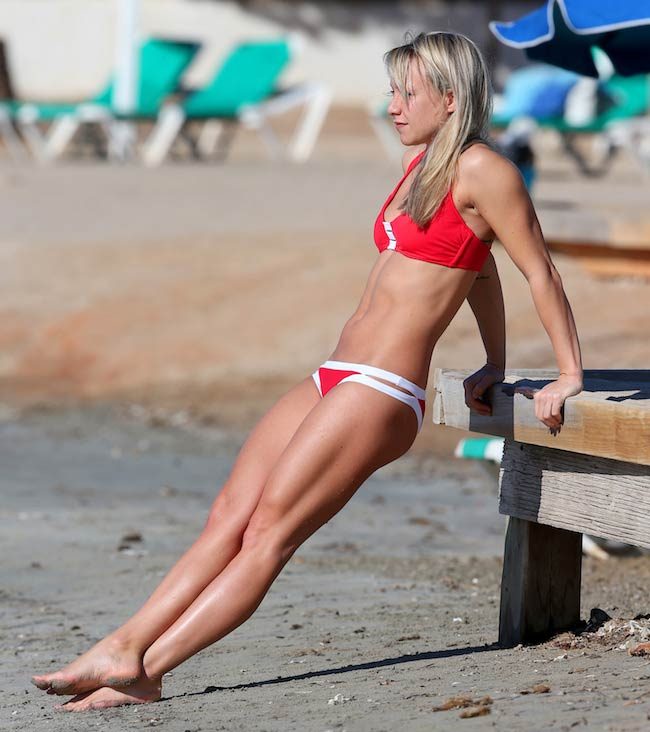 Chloe Madeley taut stomach
