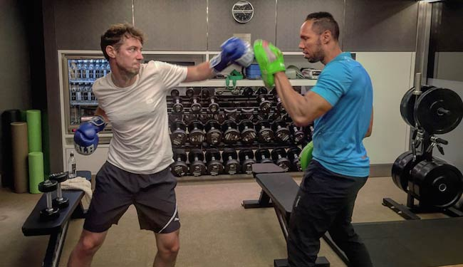 Christian Williams boxing workout