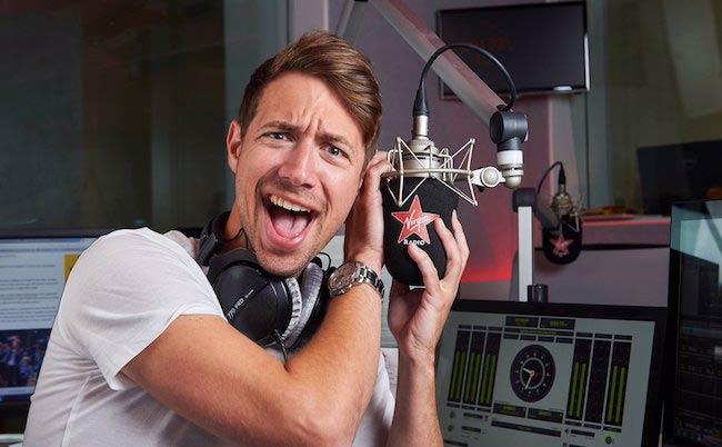 Christian Williams in the studio