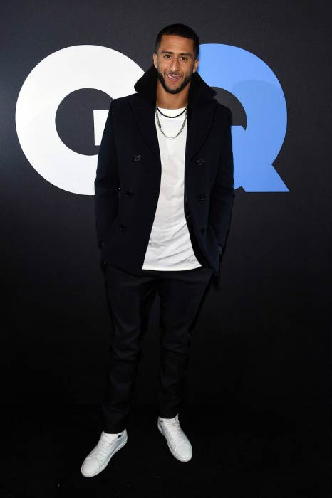 Colin Kaepernick at the GQ and LeBron James Celebrate All-Star Style event in February 2015