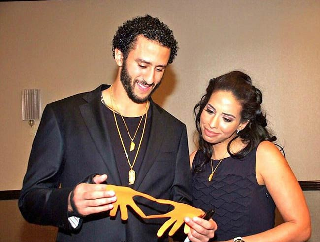 Colin Kaepernick and Nessa Diab at a charity event in January 2016