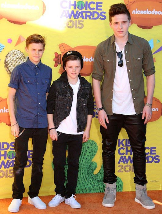Cruz Beckham (Center) at Nickelodeon Kids Choice Awards 2015