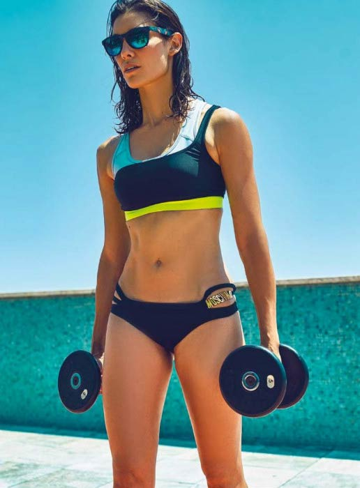 Daniela Ruah poses for the Women´s Health Portugal Magazine September 2015 edition