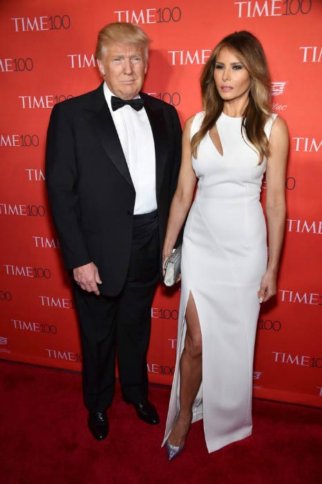 Donald Trump and Melania Trump at Time's Most Influential People Gala in April 2016