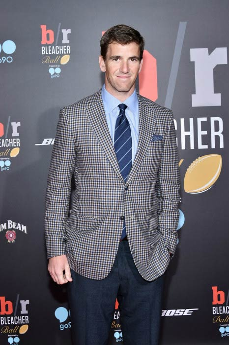 Eli Manning at the Bleacher Report's 'Bleacher Ball' from The Mezzanine in February 2016