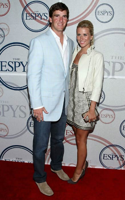 Eli Manning and wife Abby McGrew at the 2008 ESPYs Giant Event