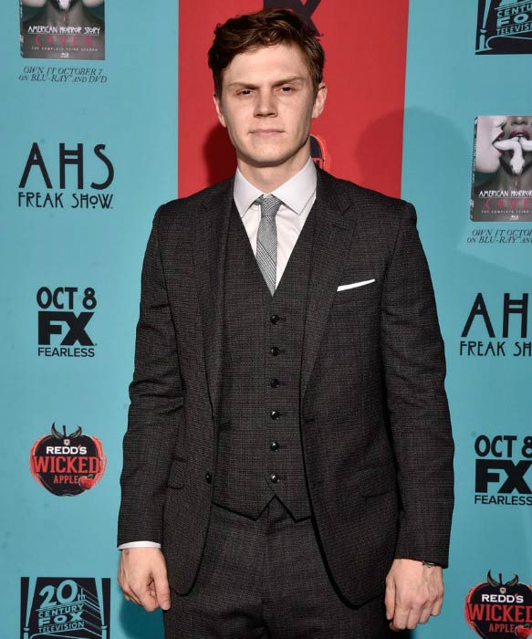 "Evan Peters at the ""American Horror Story: Freak Show"" premiere in October 2014"
