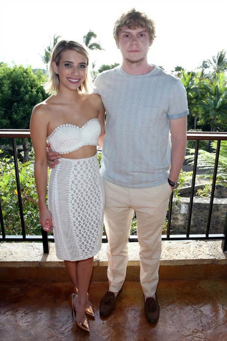 Evan Peters and Emma Roberts at the Opening Night Reception for 2014 Maui Film Festival