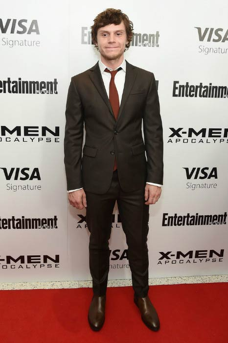 Evan Peters at the X-Men Apocalypse New York screening in May 2016