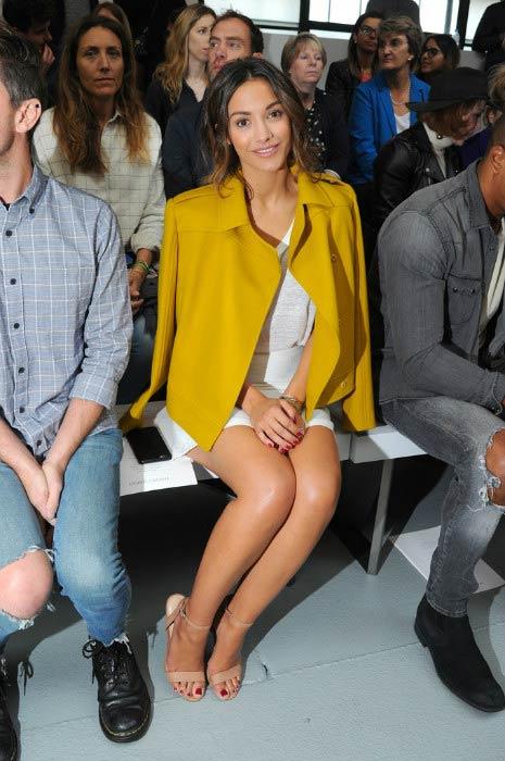 Frankie Bridge at the Jasper Conran show during London Fashion Week in September 2016