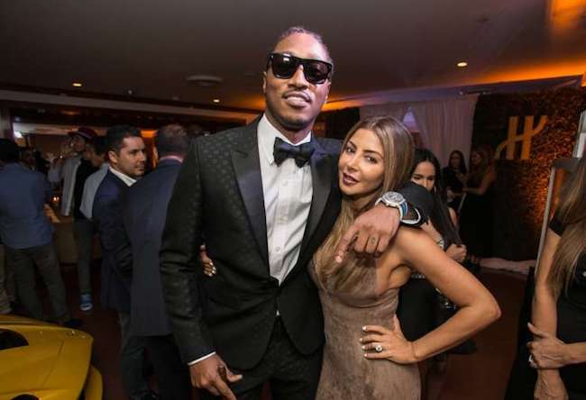 Future with girlfriend Larsa Pippen at a Miami nightclub in August 2016