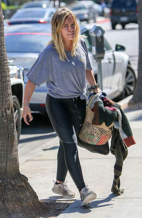Hilary Duff after a workout session in Beverly Hills in October 2016