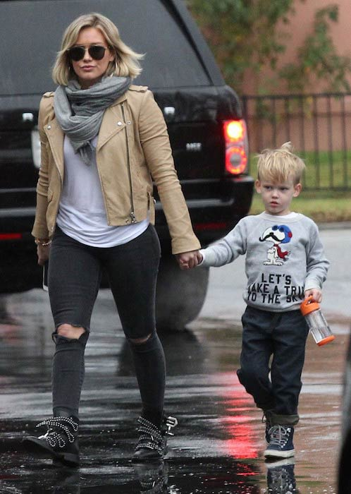 Hilary Duff with son Luca Cruz Comrie