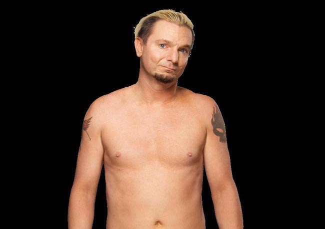 James Ellsworth poses for his profile picture for the WWE website
