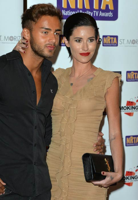 Jasmine Lennard and Cristian MJC attend the National Reality TV Awards on September 30, 2015