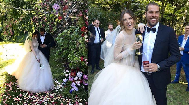 Jesinta Campbell and Buddy Franklin's wedding