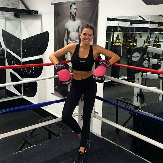 Jesinta Campbell boxing workout