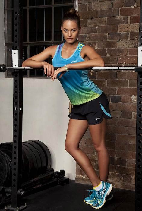 Jesinta Campbell in the new Asics photoshoot